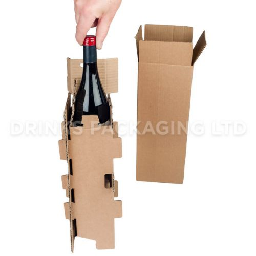 1 Bottle - Mail Order Box with Protective Insert | Wine Box Shop