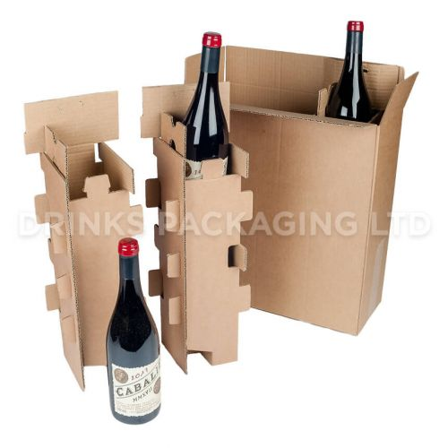 3 Bottle - Mail Order Box with Protective Inserts | Wine Box Shop