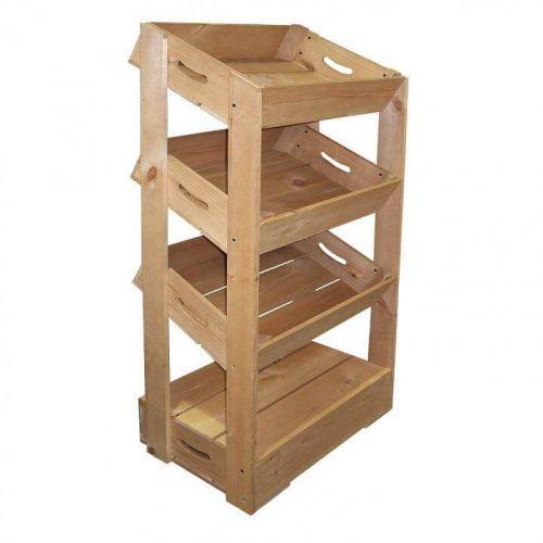 3 Angled Half Crate Shelf Unit   Beer Box Shop