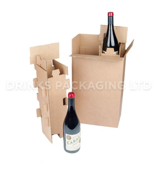2 Bottle - Mail Order Box with Protective Insert | Wine Box Shop