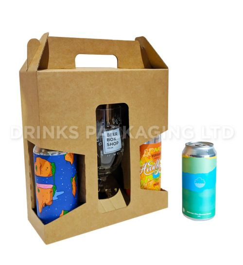 2 Can + Glass - Gift Box - 440ml / 500ml | Beer Box Shop
