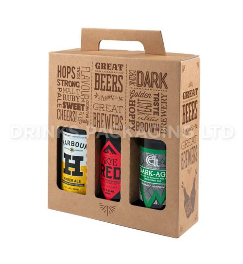 3 Bottle - 'Great Beers from Great Brewers' Gift Box - 500ml Front | Beer Box Shop