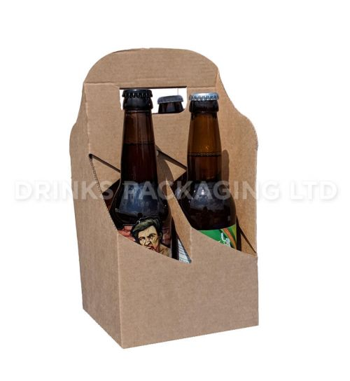 4 Bottle and Can - American style carrier - 330ml | Branding Area