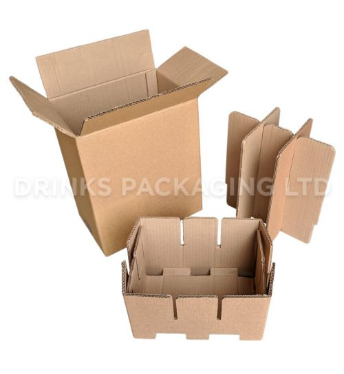 6 Bottle - Premier Wine Shipping Box with Protective Inserts | Wine Box Shop