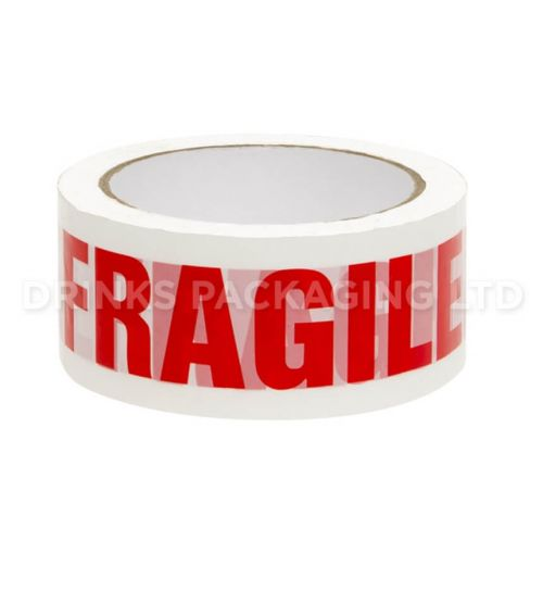 1 Roll - Fragile Warning Parcel Tape  