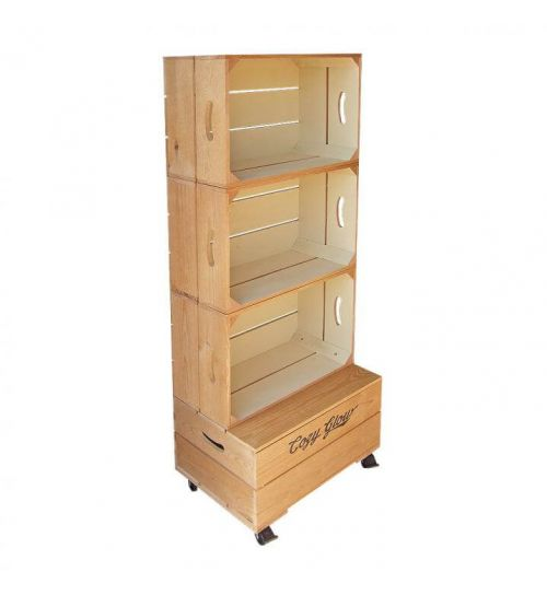 Large Three Crate Shelving Unit | Beer Box Shop