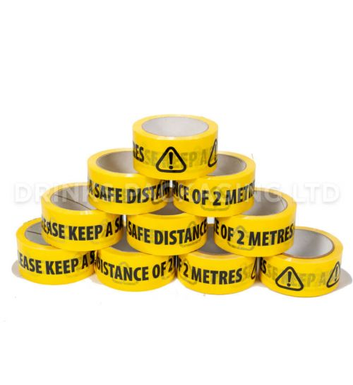 1 Roll - Please Keep A Safe Distance Tape | Beer Box Shop